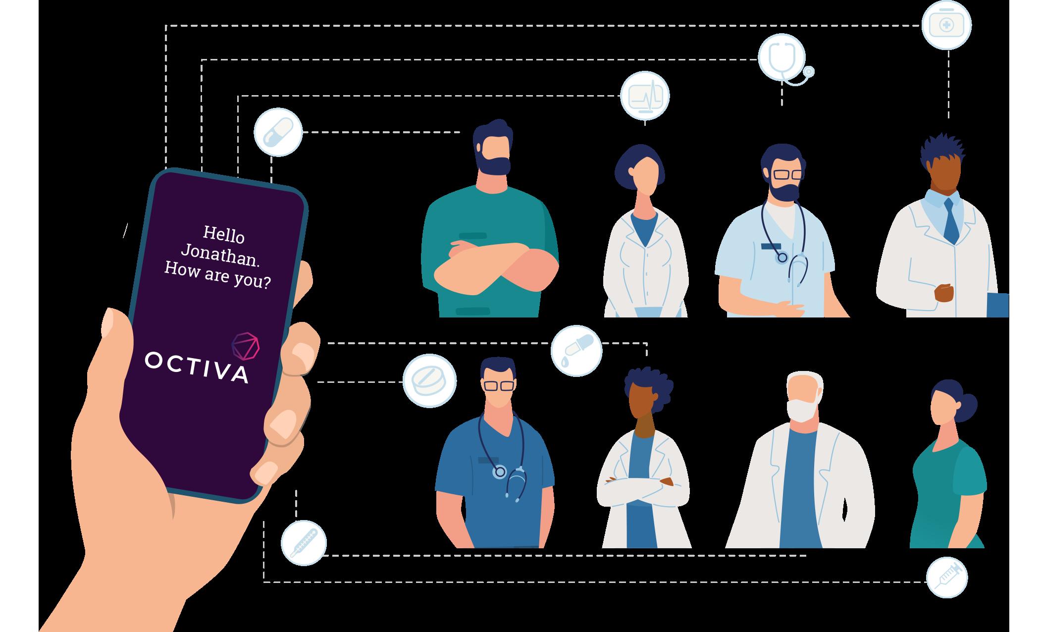 Octiva illustration scope of providers